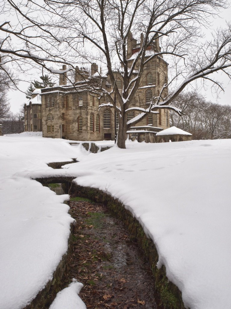 Fonthill Castle in Winter