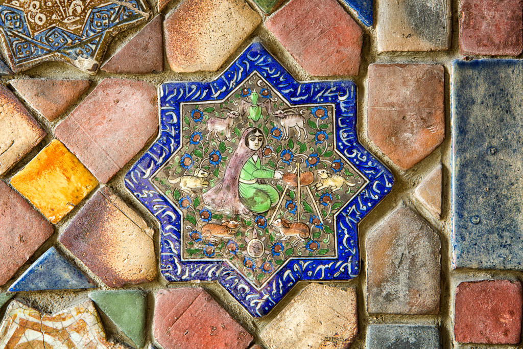 141130_Center Hall Persian Tile1 by Karl Graf.