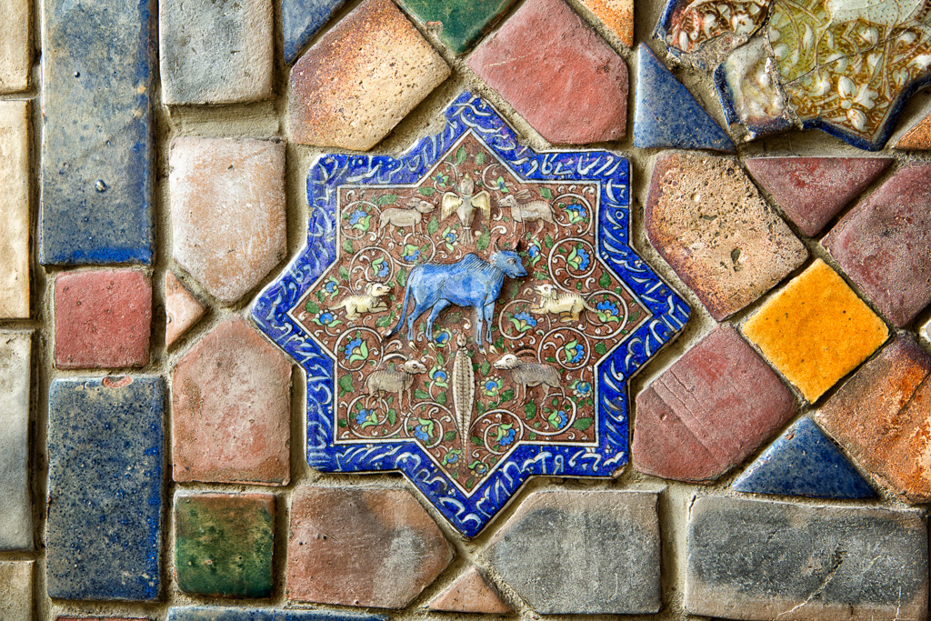 141130_Center Hall Persian Tile2 by Karl Graf.