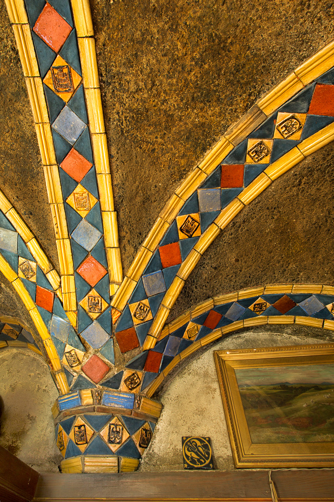 Architectural Tiles, Yellow Room Capitals and Ceiling by Karl Graf.