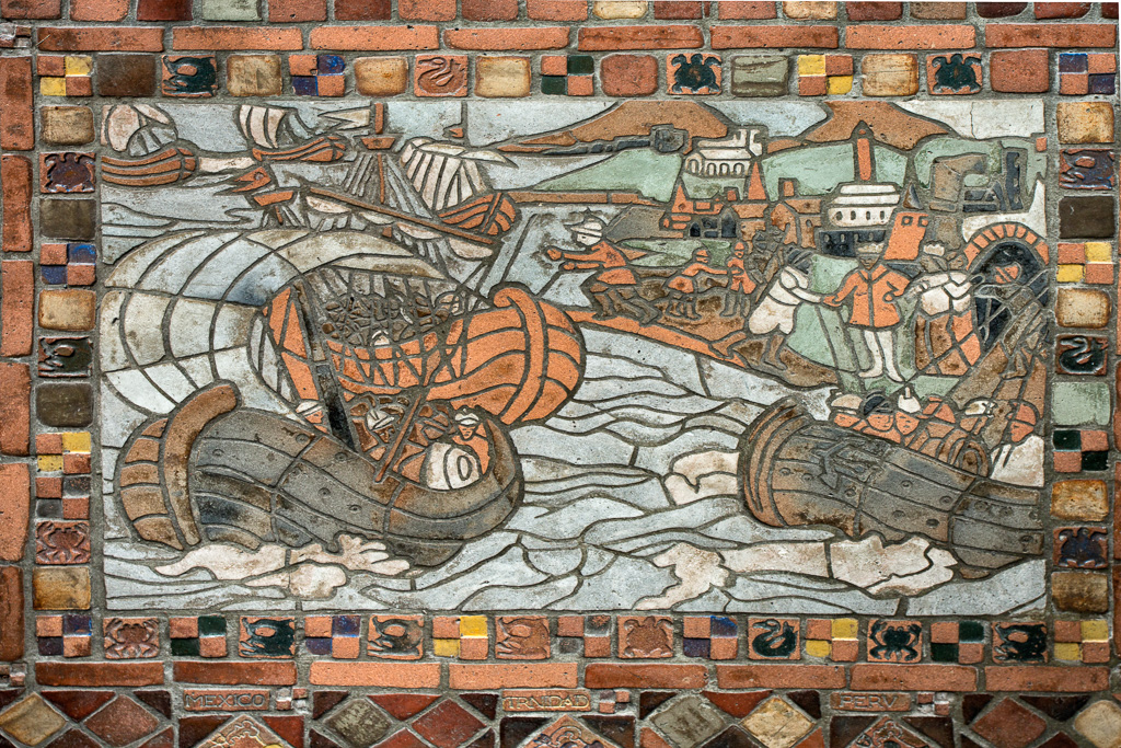 Columbus Voyage Mosaic, Columbus Room Floor by Karl Graf.