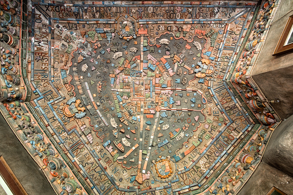 """City of Montezuma"", Bow Room Ceiling by Karl Graf."