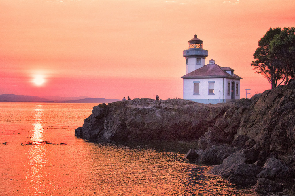 150823_Limekiln Lighthouse Sunset by Karl Graf.